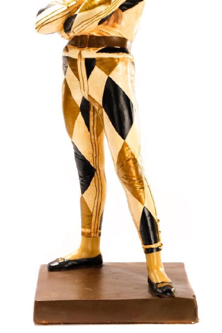 Large Figural Jester Lamp, St. Marceaux Style - 4