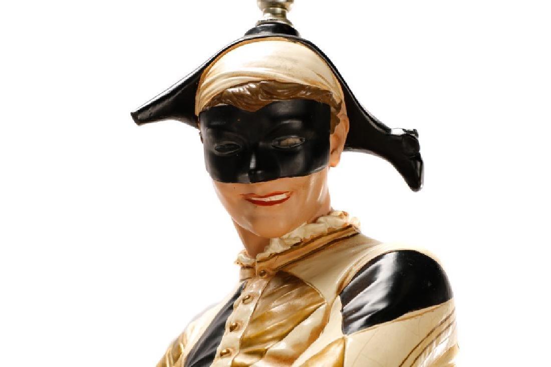 Large Figural Jester Lamp, St. Marceaux Style - 5