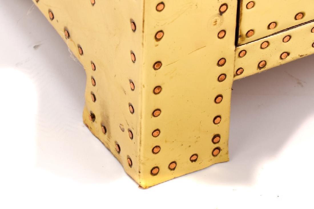 Sarreid Mid Century Modern Brass 3 Drawer Table - 5