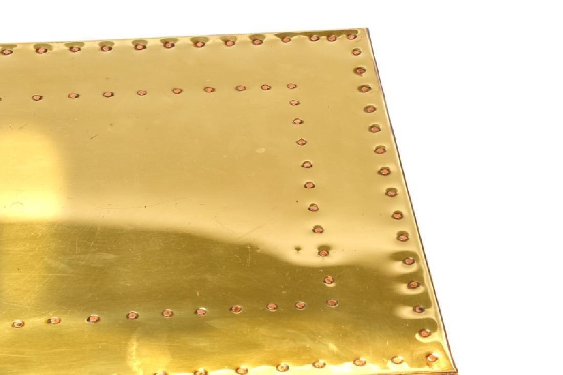 Sarreid Mid Century Modern Brass 3 Drawer Table - 8