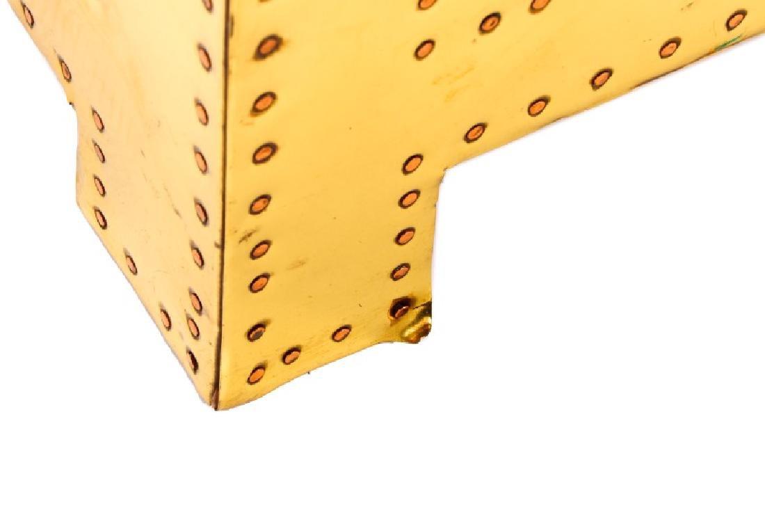 Sarreid Mid Century Modern Brass 3 Drawer Table - 9