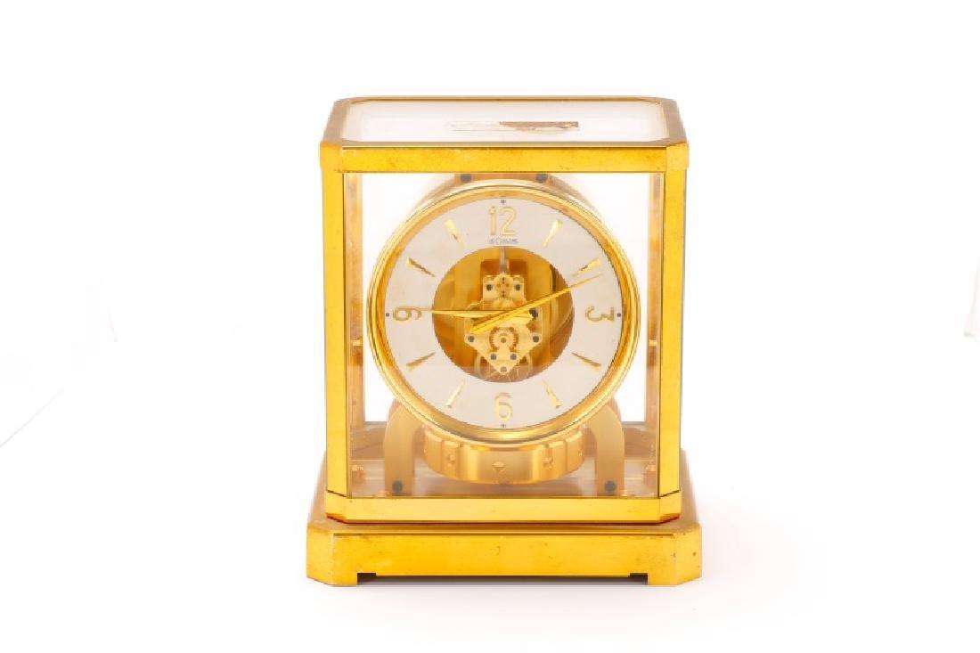 Mid Century LeCoultre Gilt Brass #519 Atmos Clock