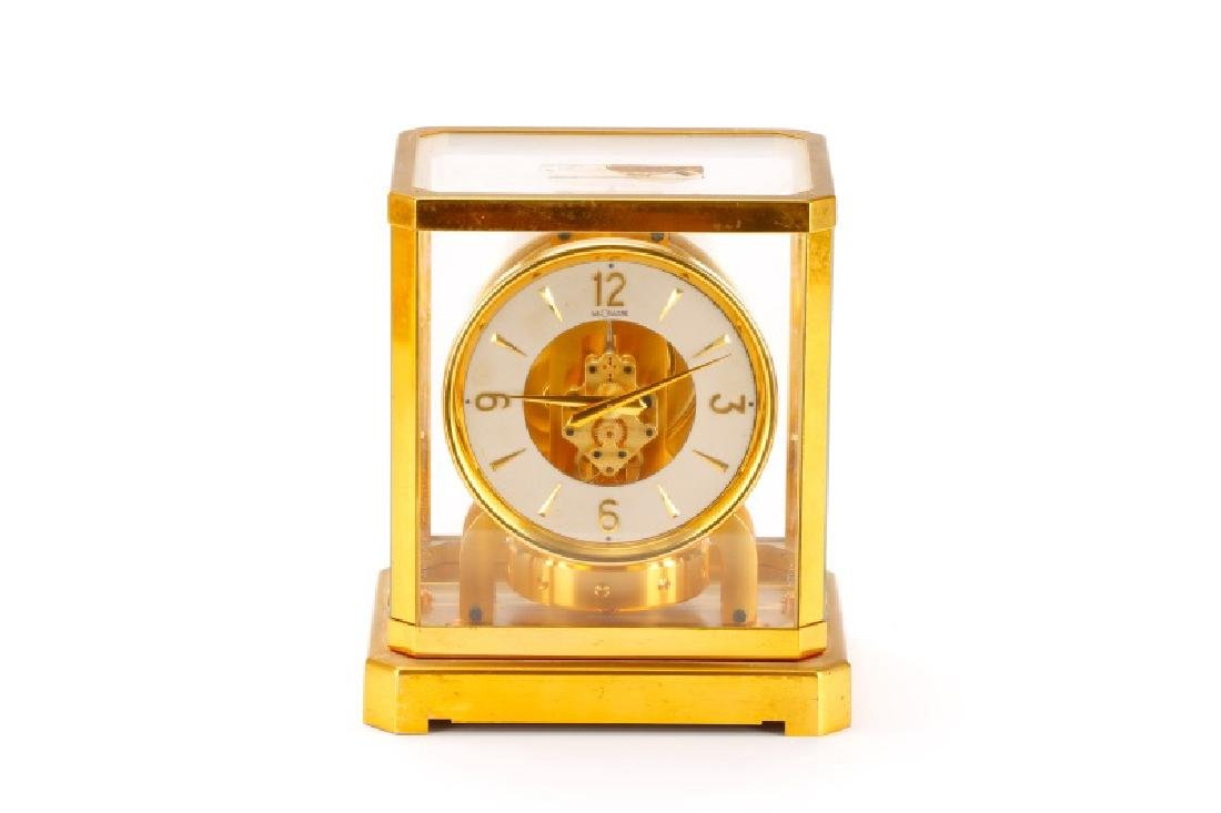 Mid Century LeCoultre Gilt Brass #519 Atmos Clock - 2