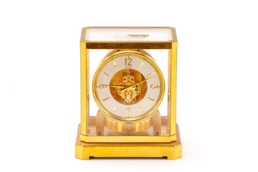 Mid Century LeCoultre Gilt Brass #519 Atmos Clock - 3