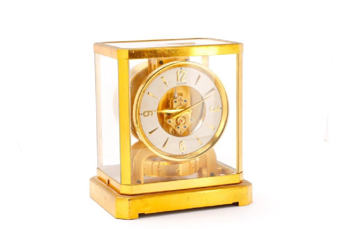 Mid Century LeCoultre Gilt Brass #519 Atmos Clock - 4