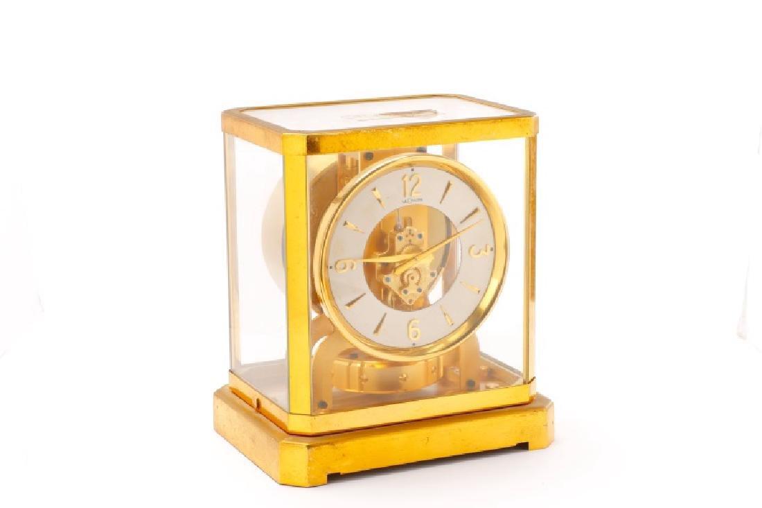Mid Century LeCoultre Gilt Brass #519 Atmos Clock - 5
