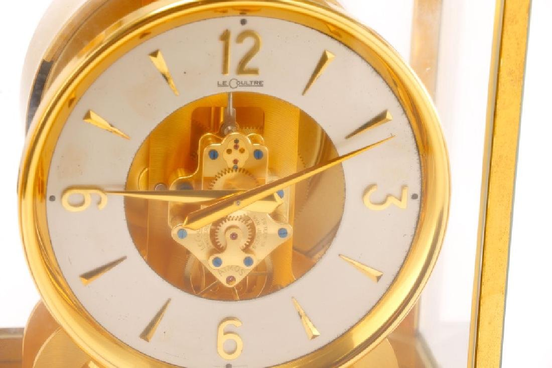 Mid Century LeCoultre Gilt Brass #519 Atmos Clock - 6