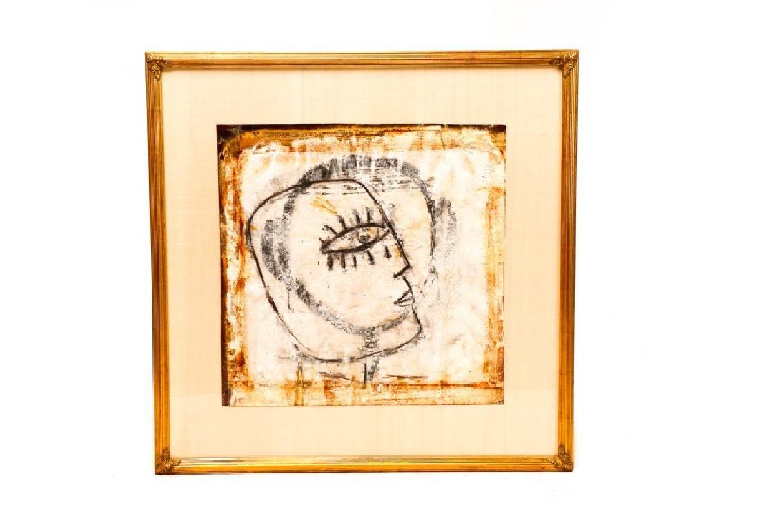 """Jamali, """"Profile"""" Mixed Media Painting"""