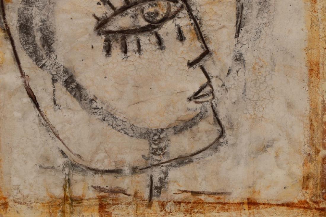 """Jamali, """"Profile"""" Mixed Media Painting - 4"""