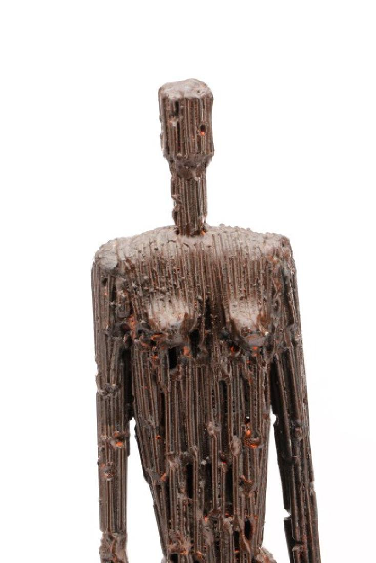 Brutalist Style Sculpture of a Standing Woman - 3