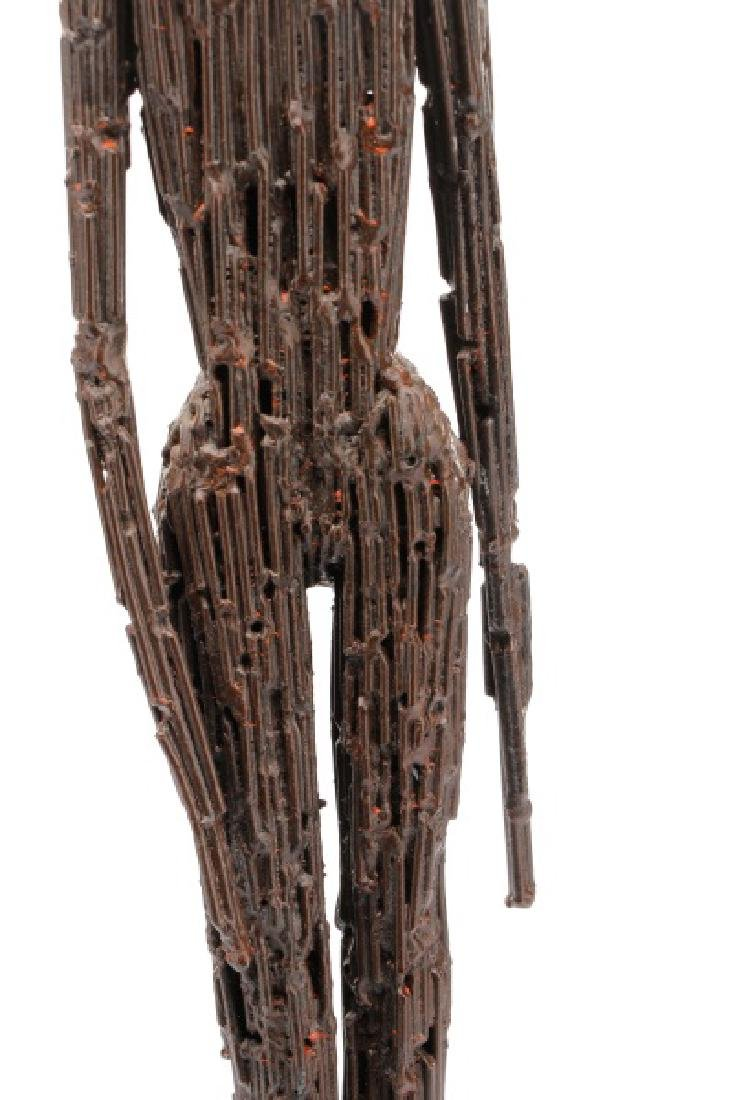 Brutalist Style Sculpture of a Standing Woman - 4