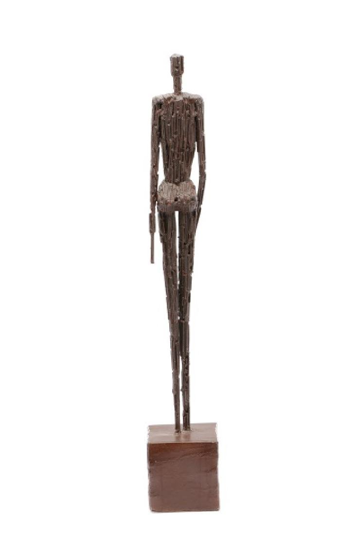 Brutalist Style Sculpture of a Standing Woman - 5