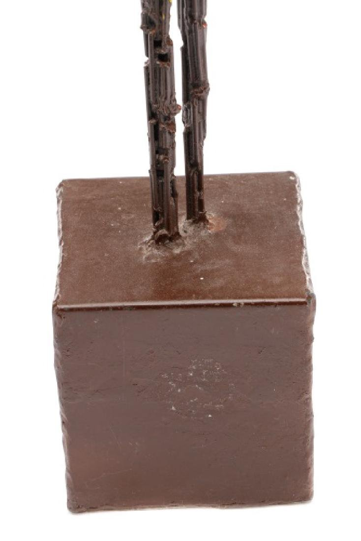 Brutalist Style Sculpture of a Standing Woman - 8