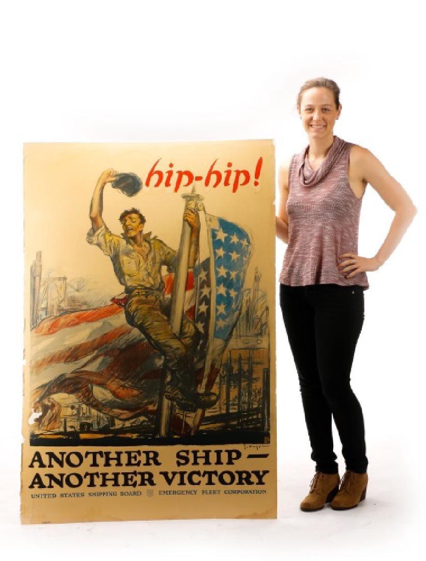 World War I Propaganda Poster, circa 1918