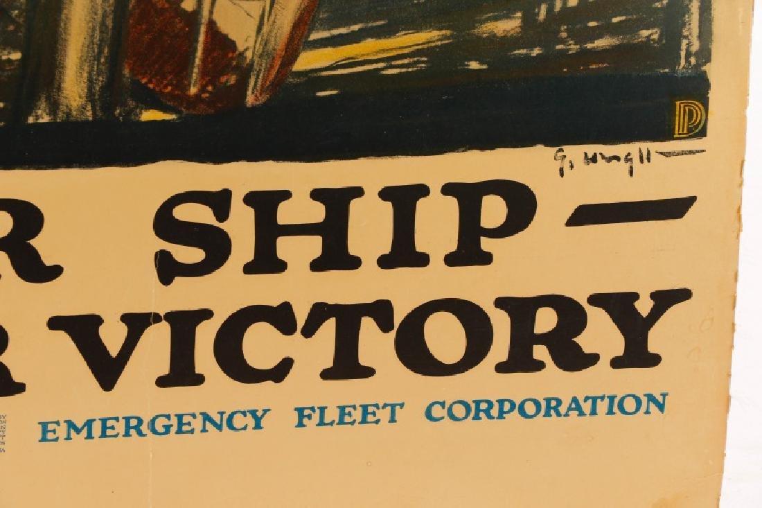 World War I Propaganda Poster, circa 1918 - 3