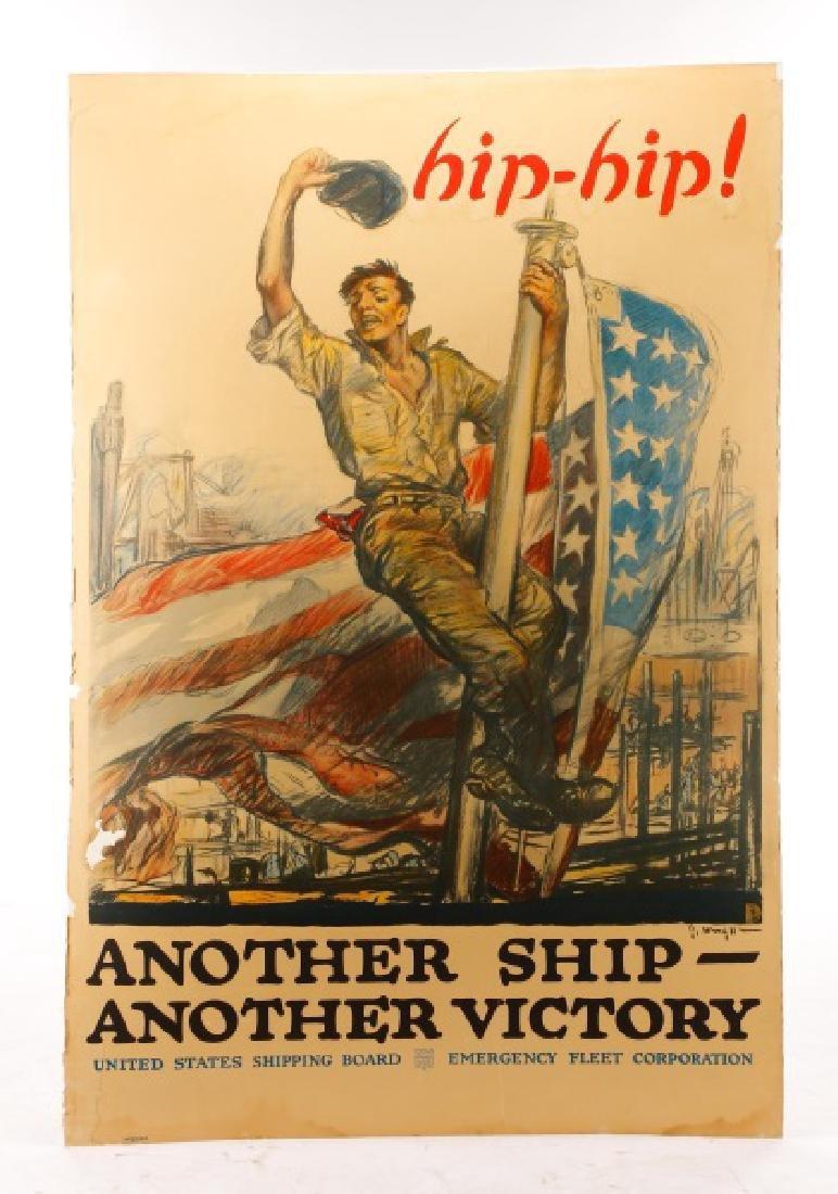 World War I Propaganda Poster, circa 1918 - 7
