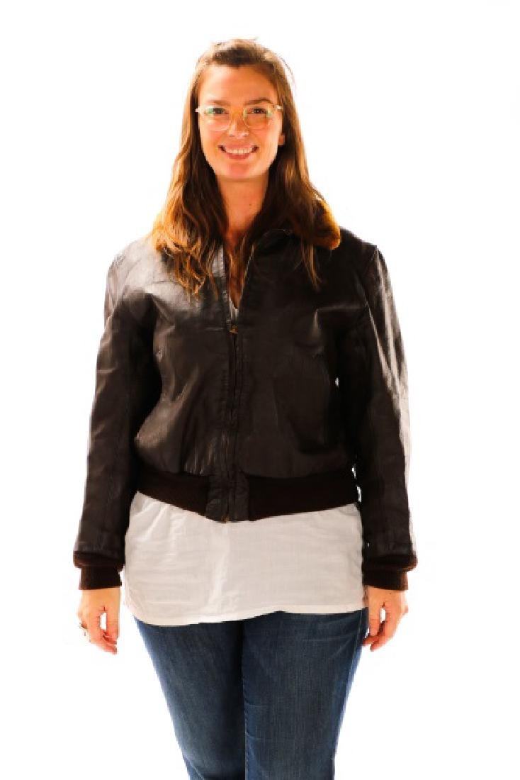 World War II Era Leather Bomber Jacket