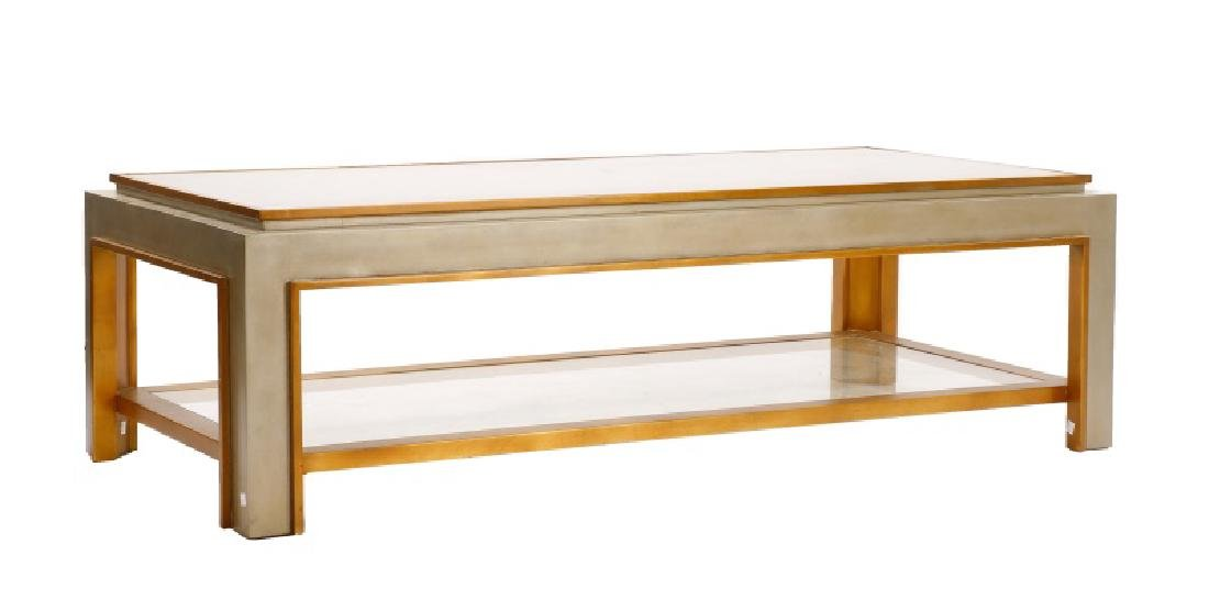 Mid Century Modern Chrome & Glass Coffee Table