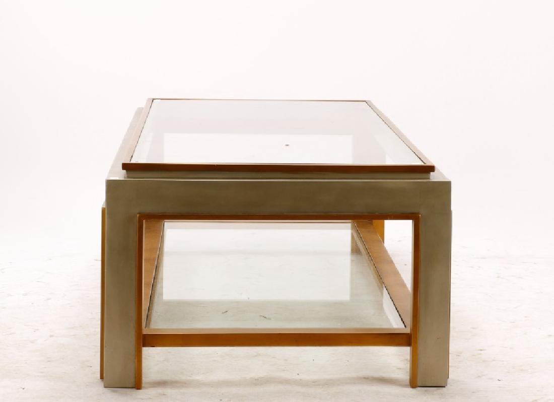 Mid Century Modern Chrome & Glass Coffee Table - 4