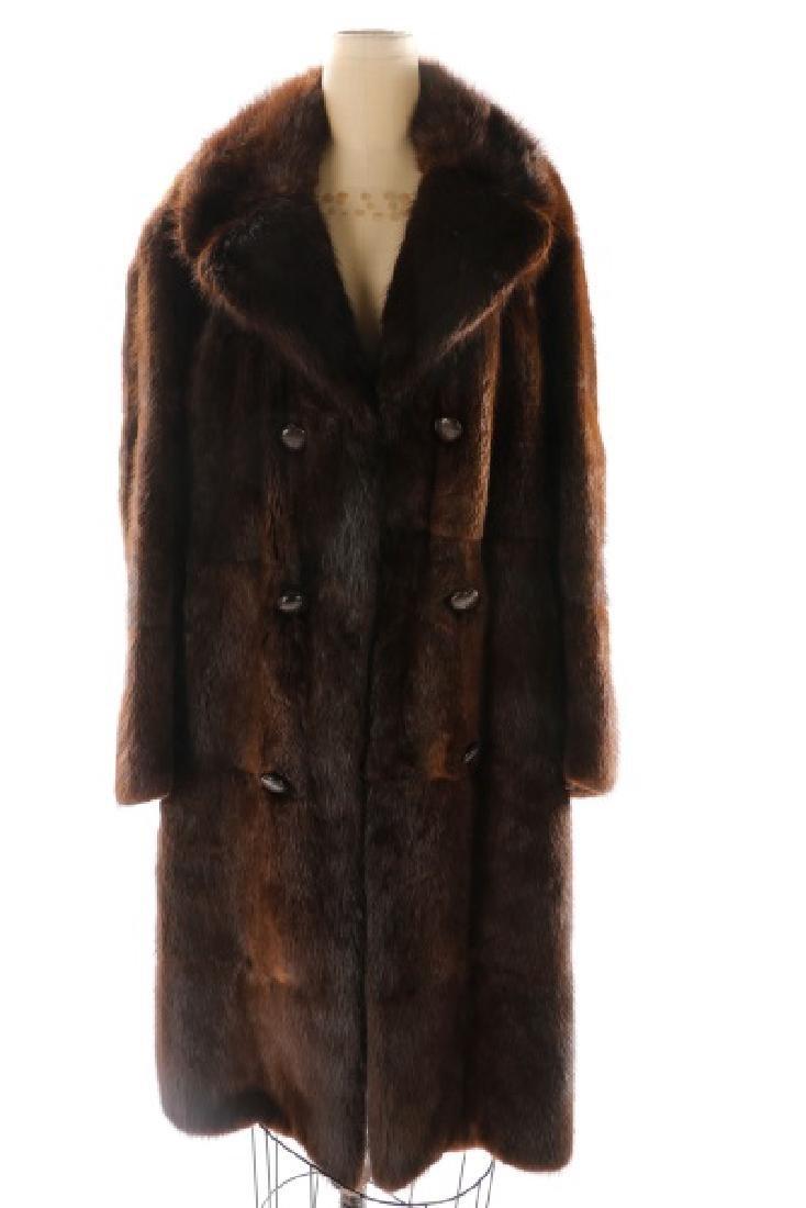 Gentlemen's 3/4 Length Mahogany Mink Coat - 2
