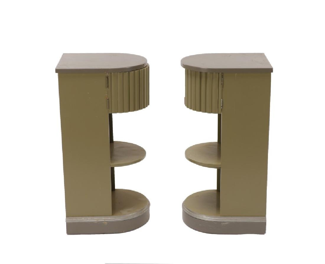 Pair, American Art Deco Stands/Tables, Kittinger - 2
