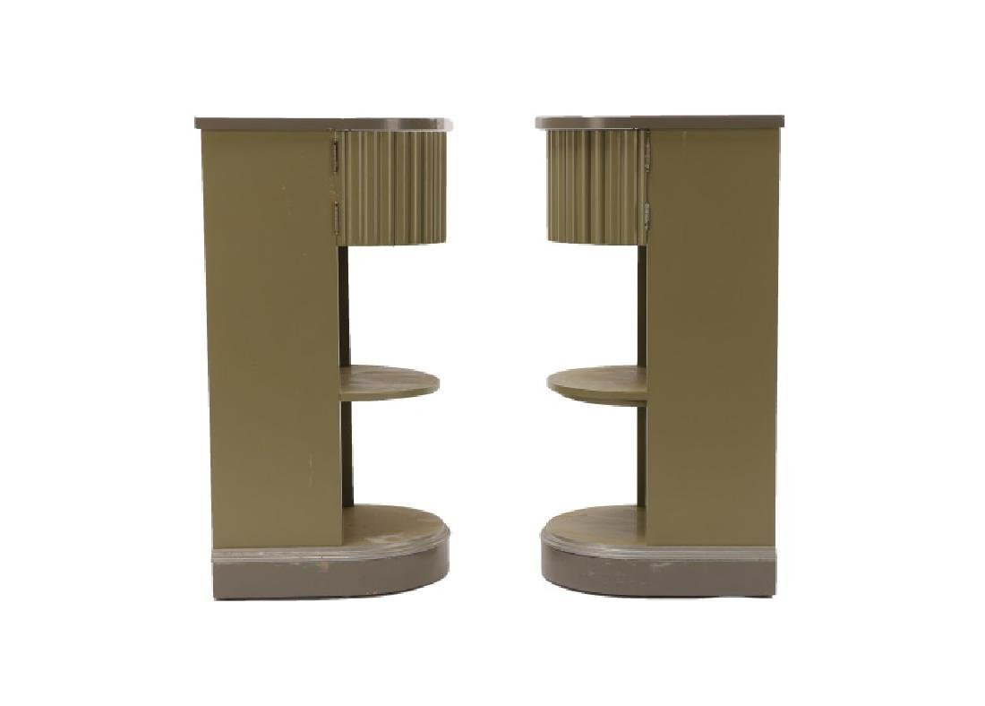 Pair, American Art Deco Stands/Tables, Kittinger - 3