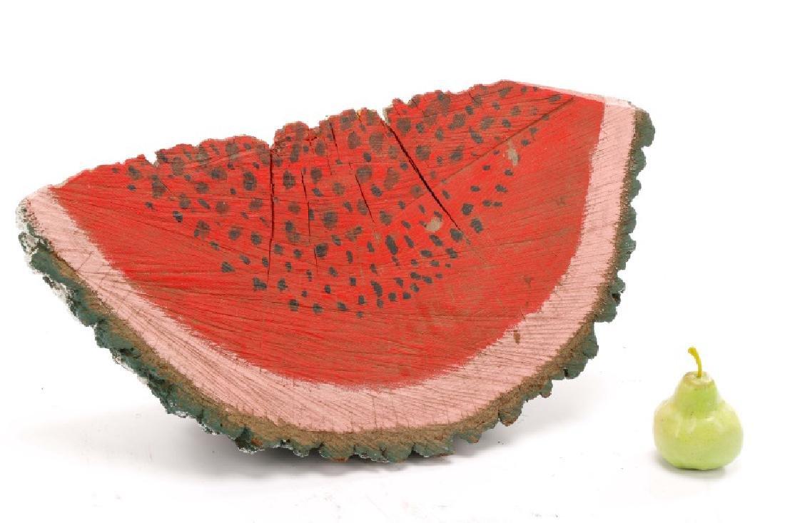 Primitive Folk Art Painted Watermelon Slice - 4