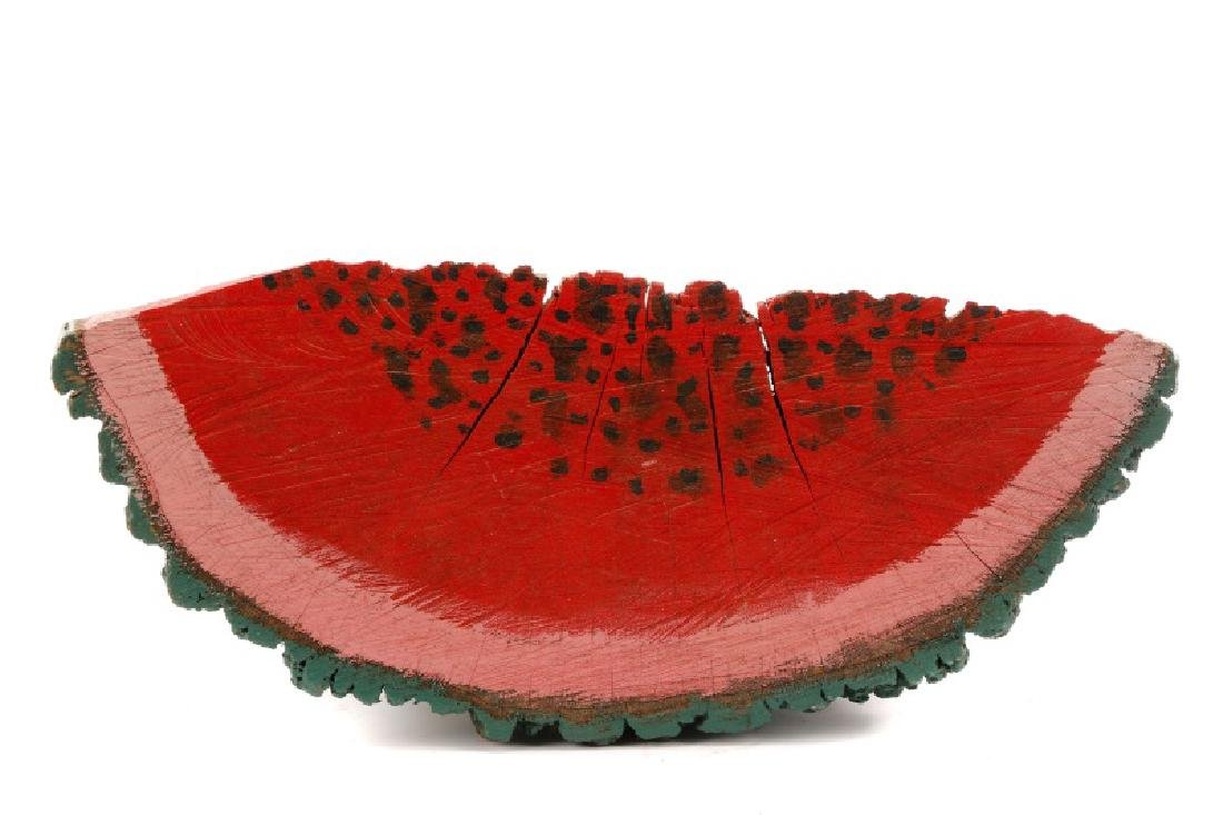 Primitive Folk Art Painted Watermelon Slice - 6
