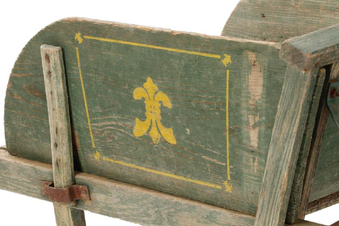 Fairbanks Stencil Decorated No 4 Wheelbarrow - 4