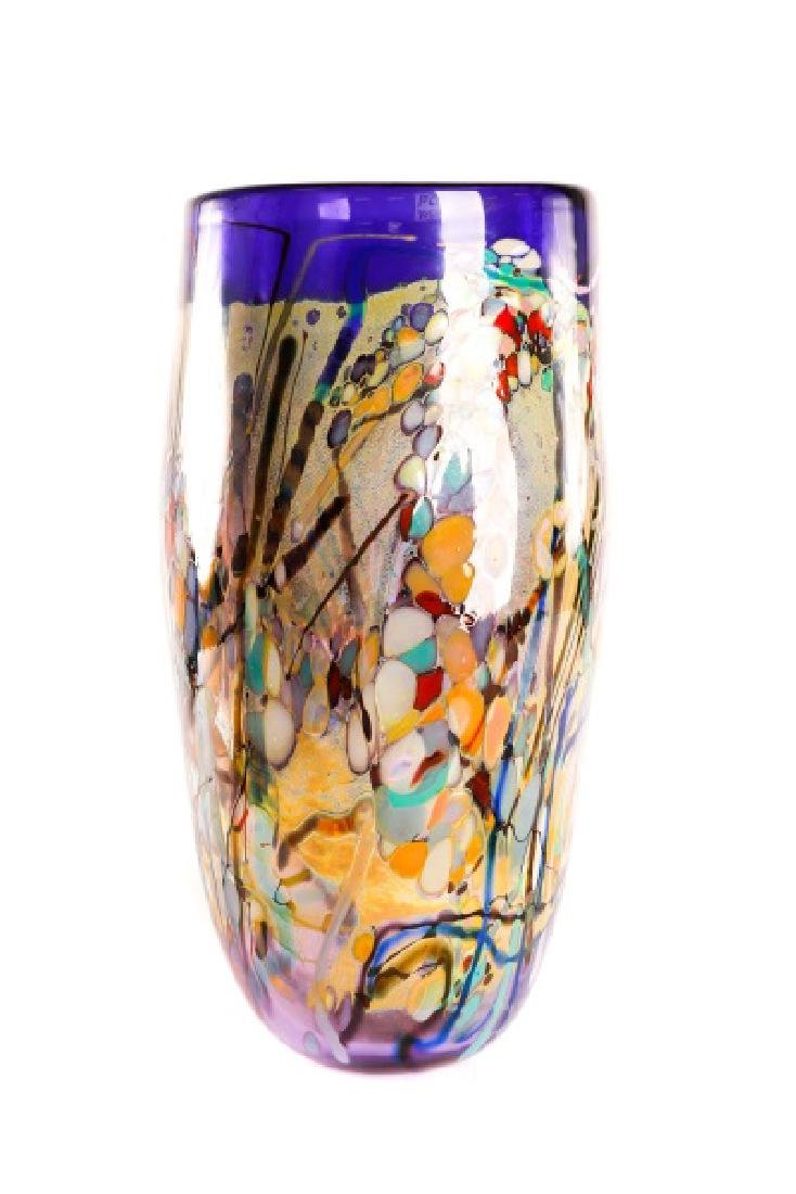 John Gerletti, Large Hand Blown Purple Glass Vase - 2