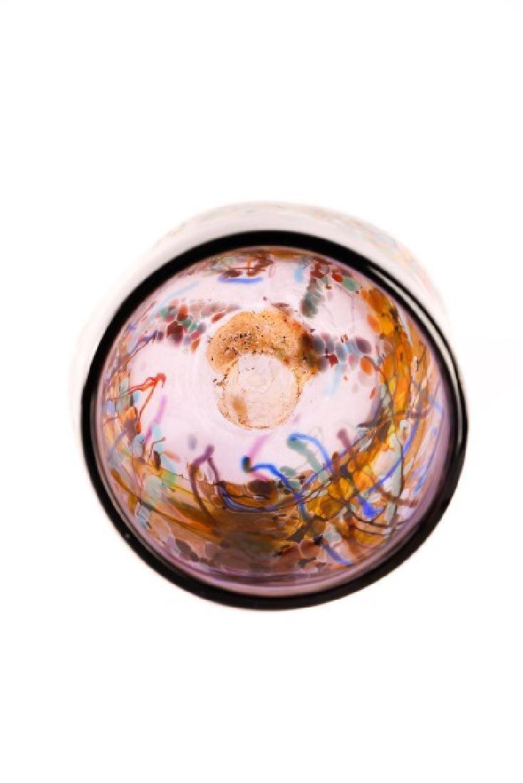 John Gerletti, Large Hand Blown Purple Glass Vase - 3