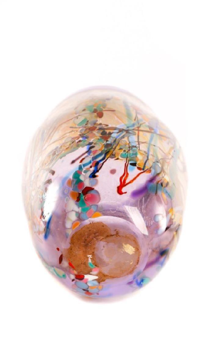 John Gerletti, Large Hand Blown Purple Glass Vase - 4
