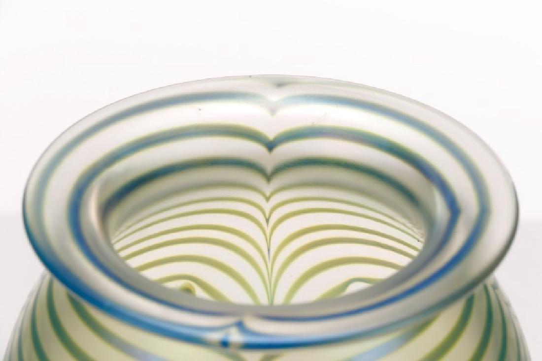 "Robert Eickholt 8"" Pulled Feather Glass Vase - 6"