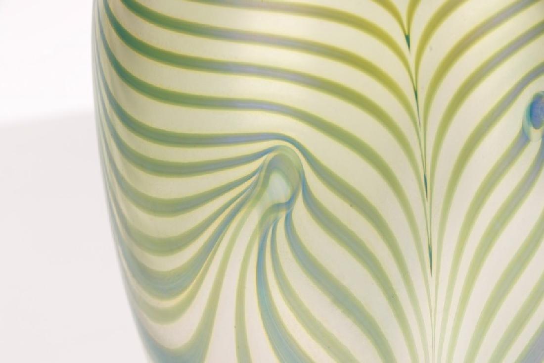 "Robert Eickholt 8"" Pulled Feather Glass Vase - 7"