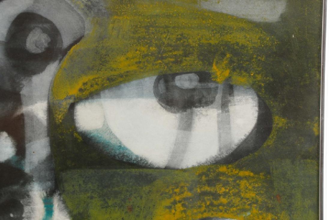Alfons Dargis, 1964 Signed Abstract Mixed Media - 3