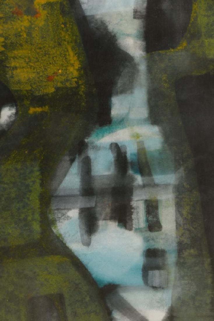 Alfons Dargis, 1964 Signed Abstract Mixed Media - 5