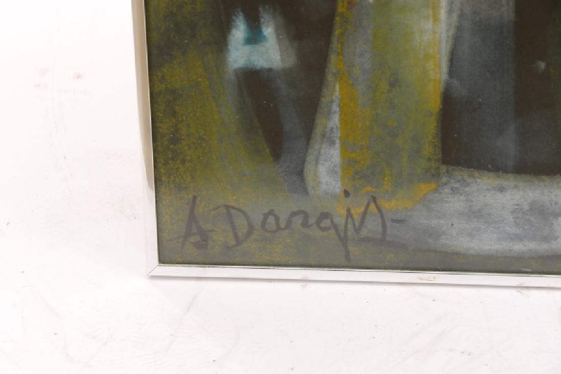Alfons Dargis, 1964 Signed Abstract Mixed Media - 6