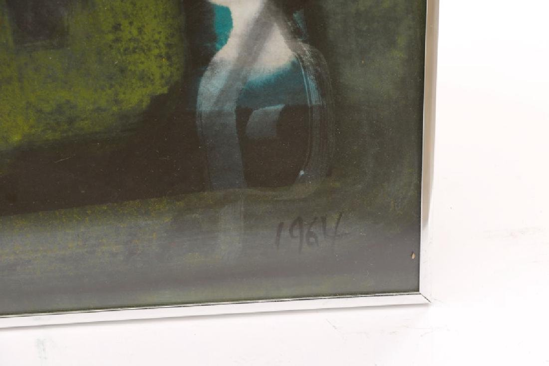 Alfons Dargis, 1964 Signed Abstract Mixed Media - 7