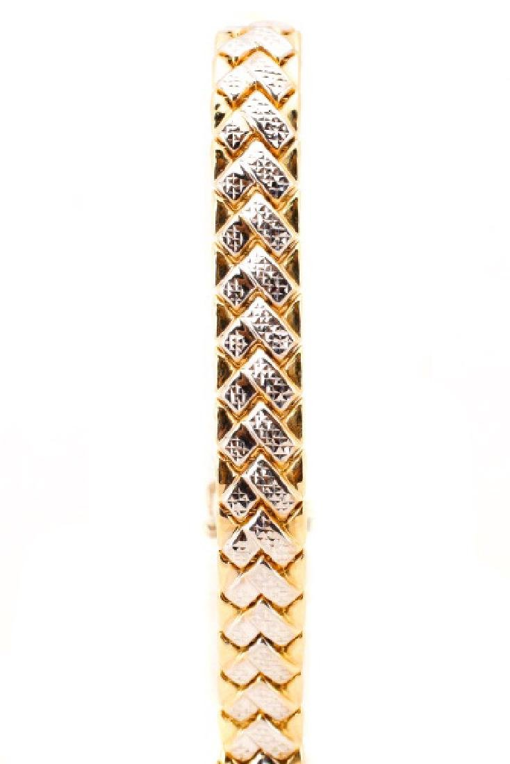 "14k Yellow & White Gold ""Chevron"" Bracelet - 2"