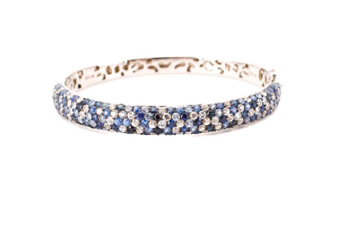 "Effy Sterling ""Sapphire Splash"" Bangle Bracelet"
