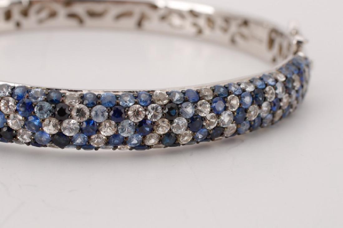 "Effy Sterling ""Sapphire Splash"" Bangle Bracelet - 2"