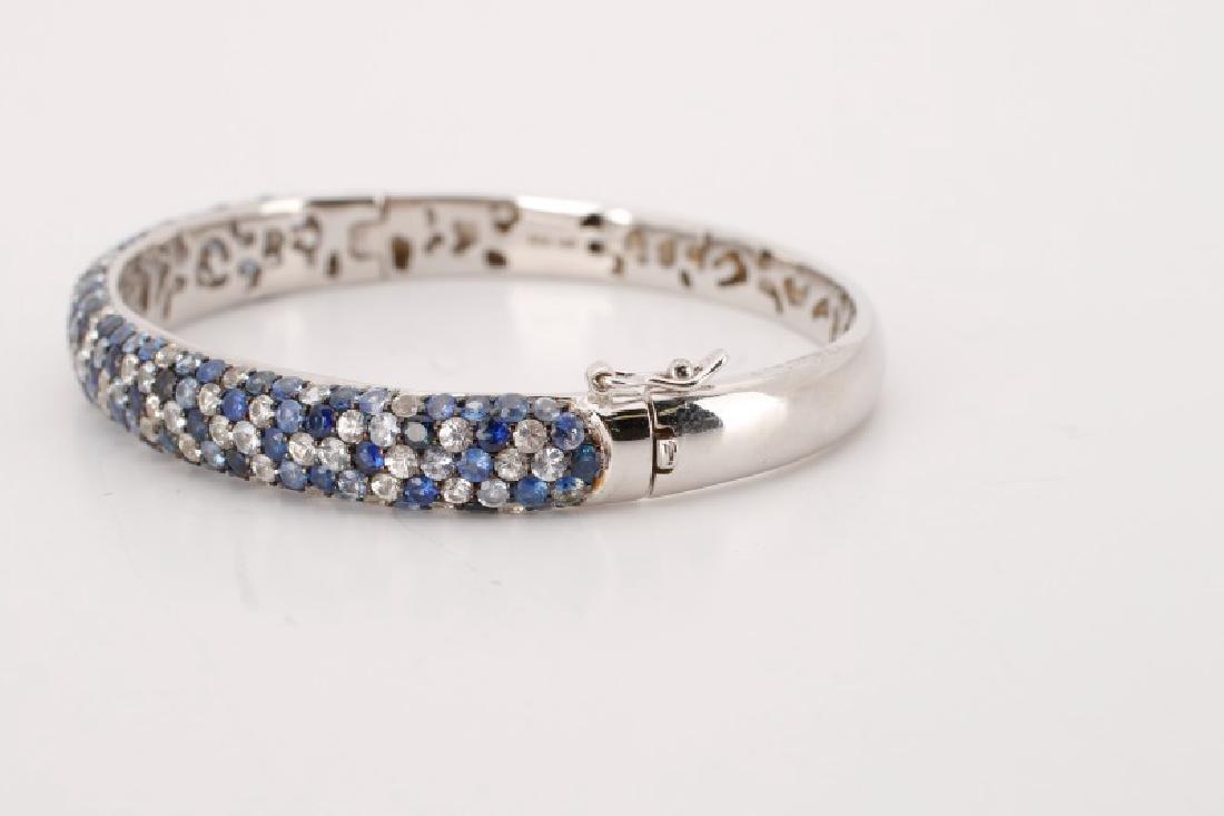 "Effy Sterling ""Sapphire Splash"" Bangle Bracelet - 3"
