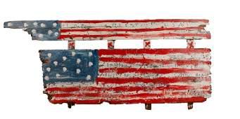 "R.A. Miller, ""Lord Blest USA"" Folk Art Flag"