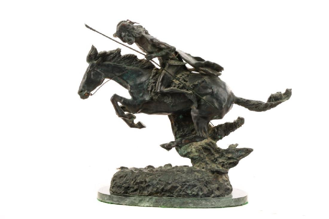 "After Remington ""The Cheyenne,"" Bronze Sculpture"