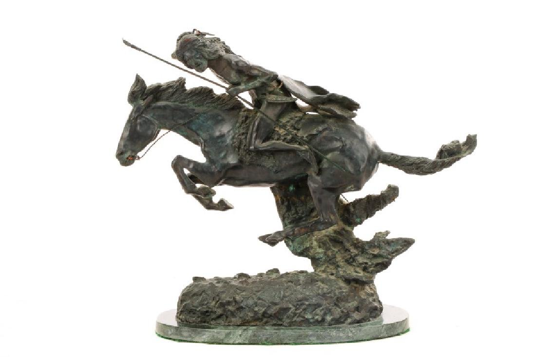 "After Remington ""The Cheyenne,"" Bronze Sculpture - 6"