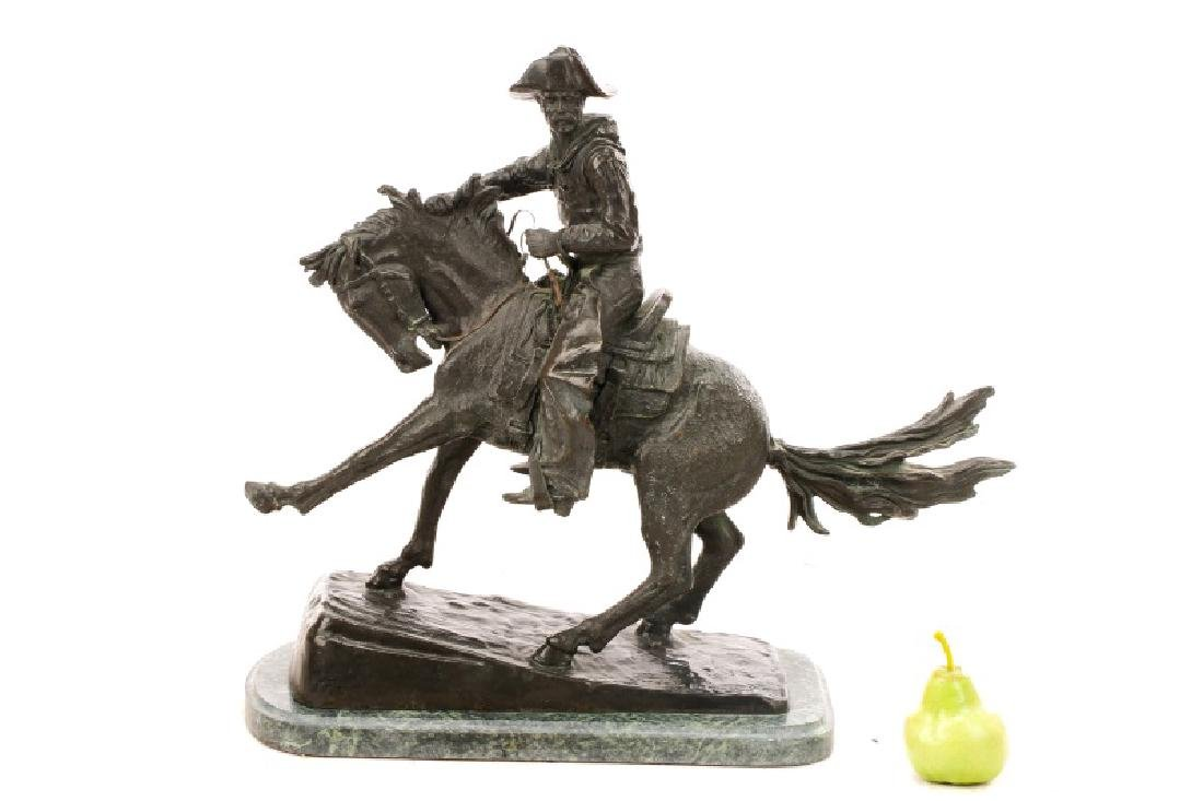 "After Remington, ""Cowboy"" Bronze Sculpture - 2"