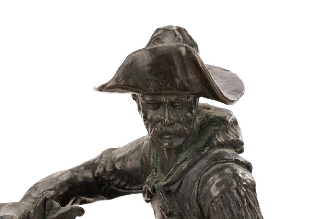 "After Remington, ""Cowboy"" Bronze Sculpture - 6"