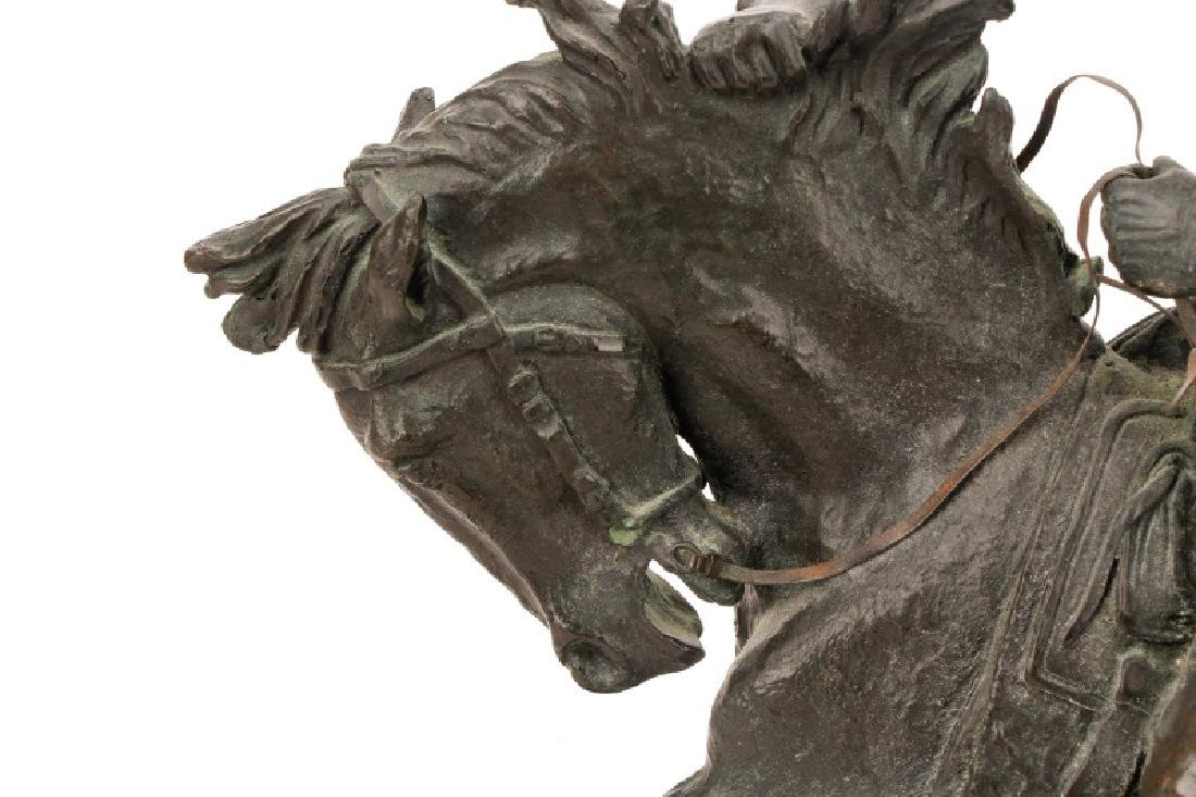 "After Remington, ""Cowboy"" Bronze Sculpture - 7"