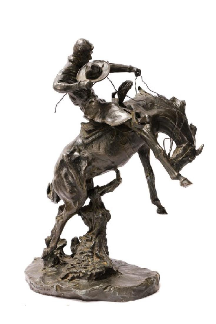 "After C.M. Russell ""Bronco Twister"" Bronze"
