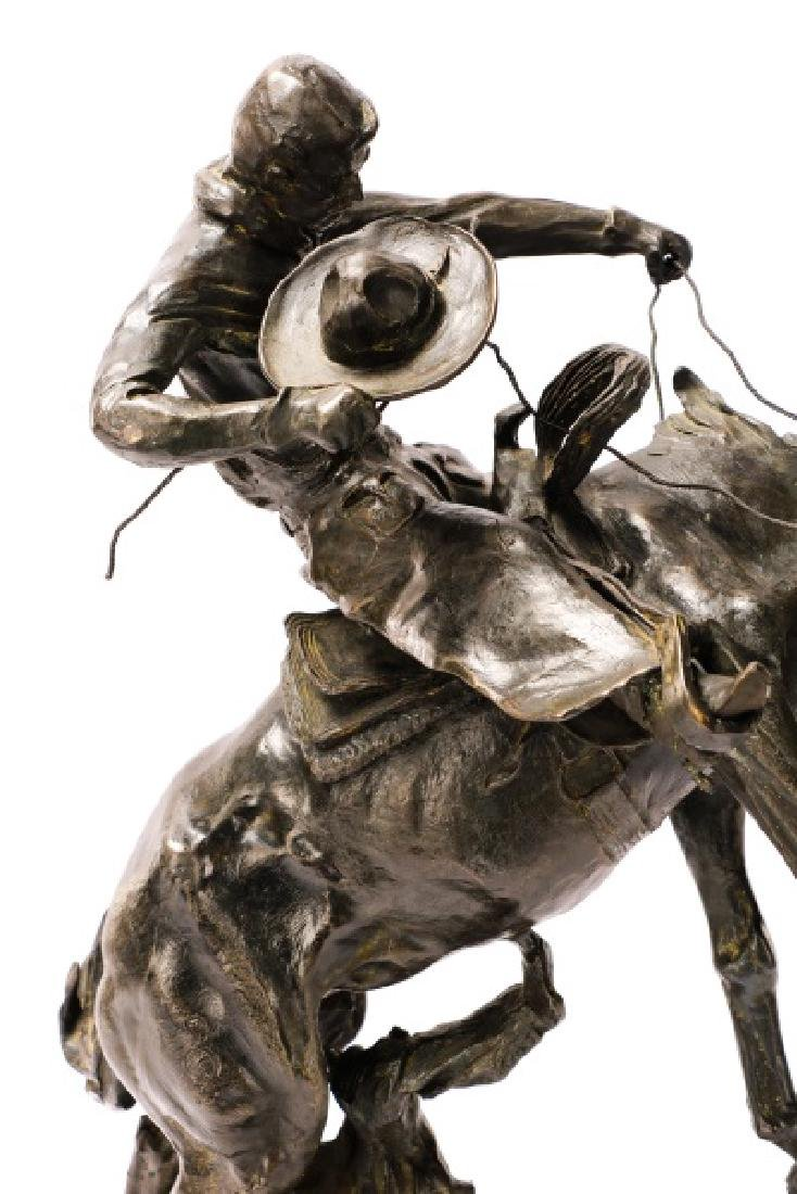 "After C.M. Russell ""Bronco Twister"" Bronze - 7"